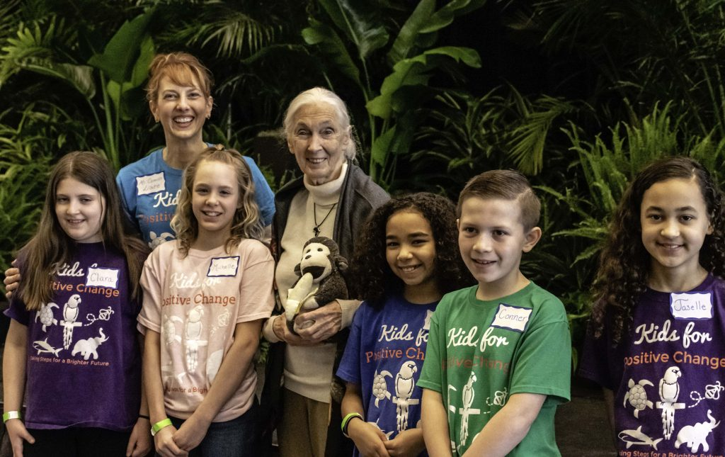 jane goodall and kids for positive change